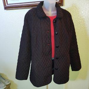 Marvin Richards Quilted Black Coat Jacket Sz M
